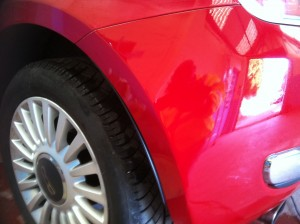Car Bumper Scuff Repair Completed