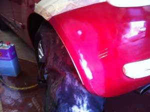 Car Bumper Scuff Repair Step 2